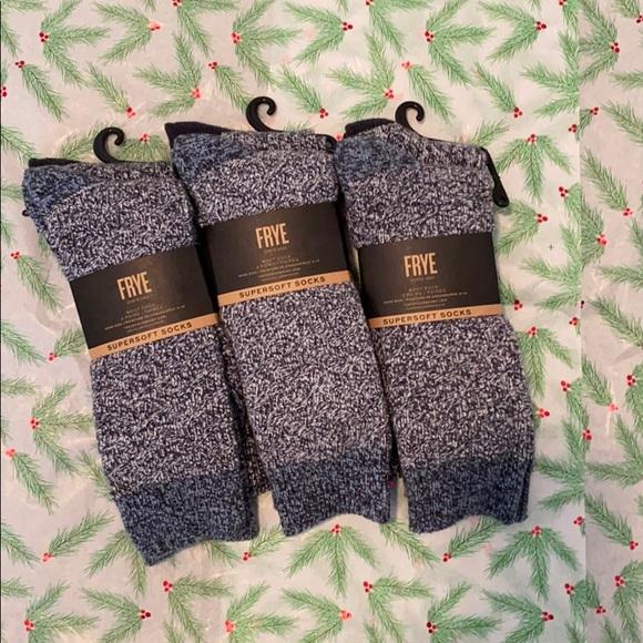 3 pairs of Frye boot socks